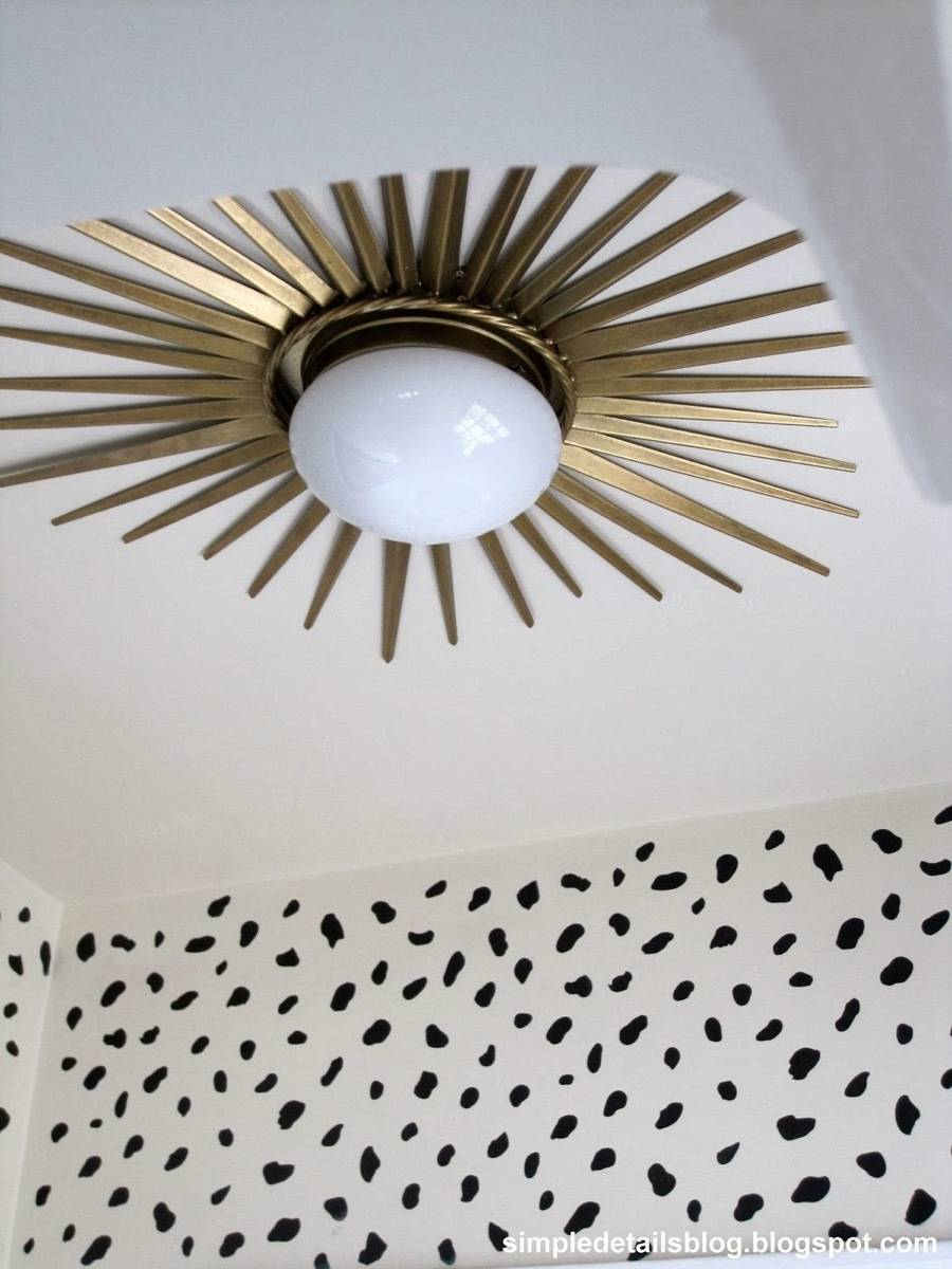 Flush-mounted light fixture accented