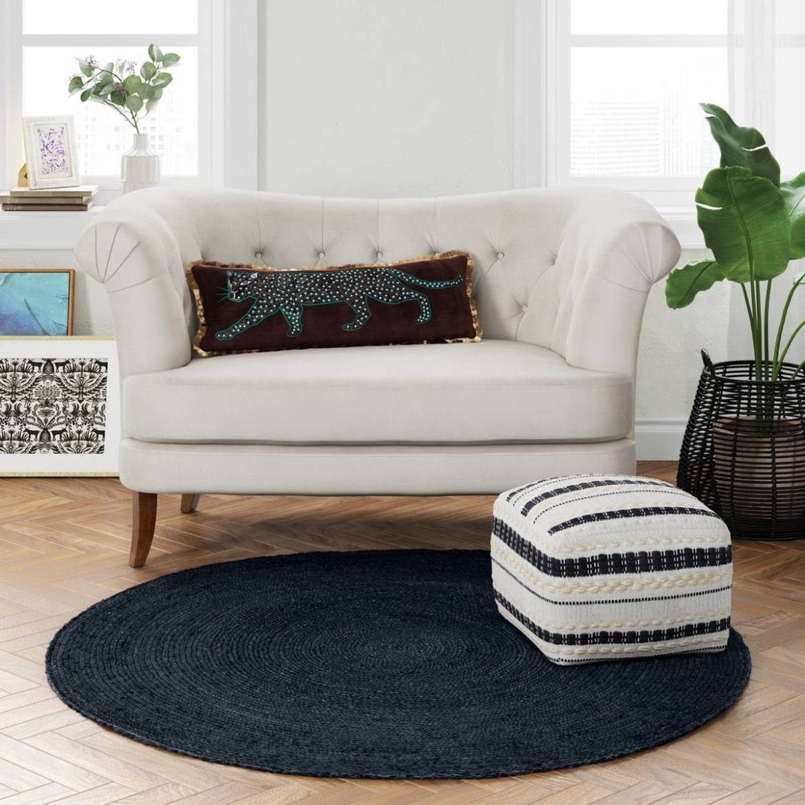 10 affordable furniture and home decor pieces for under $100 - Braided jute rug from Target