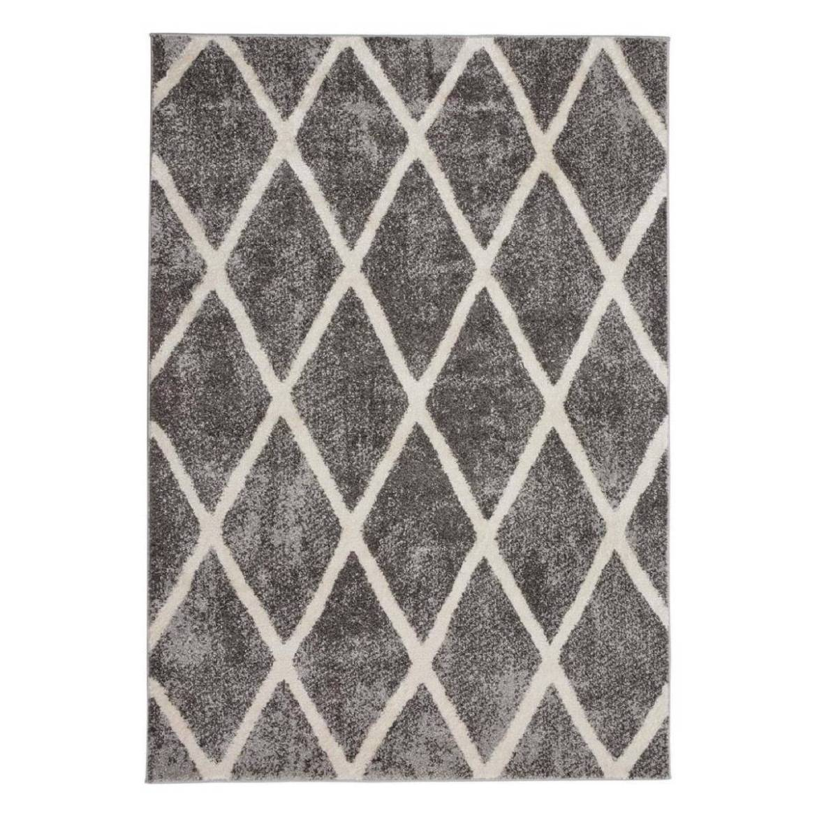 Gray diamond rug from The Home Depot