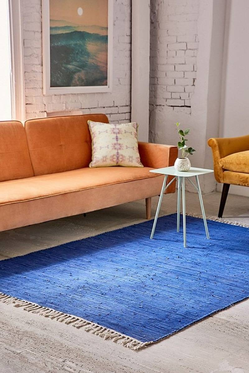 Reversible color block rug from Urban Outfitters