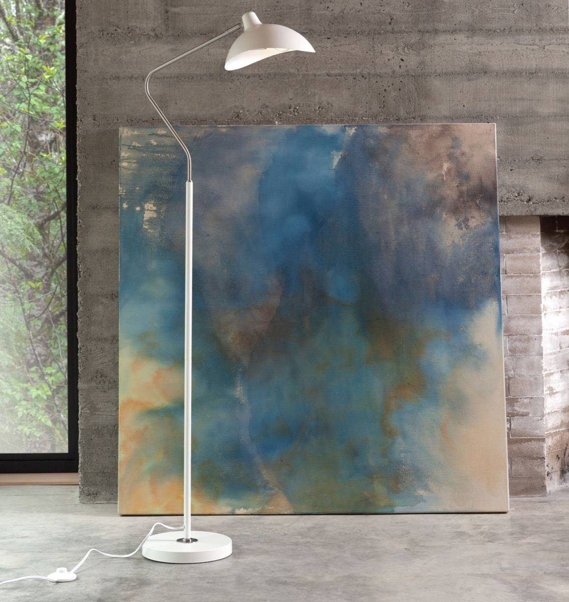 Leap white floor lamp from Article