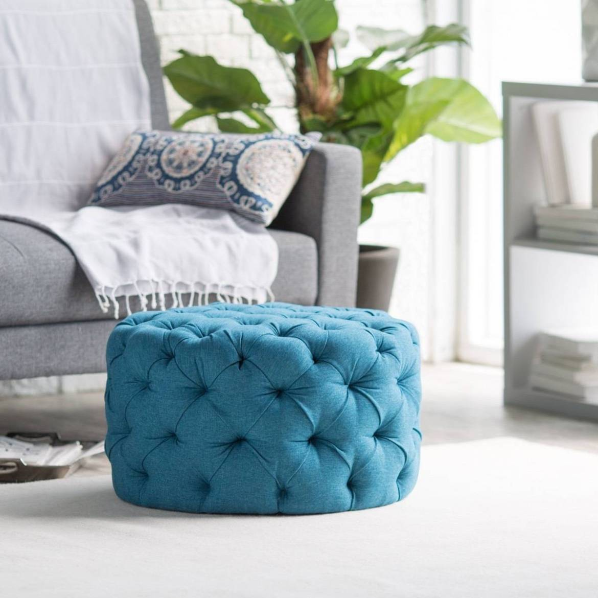 Allover tufted ottoman from Hayneedle
