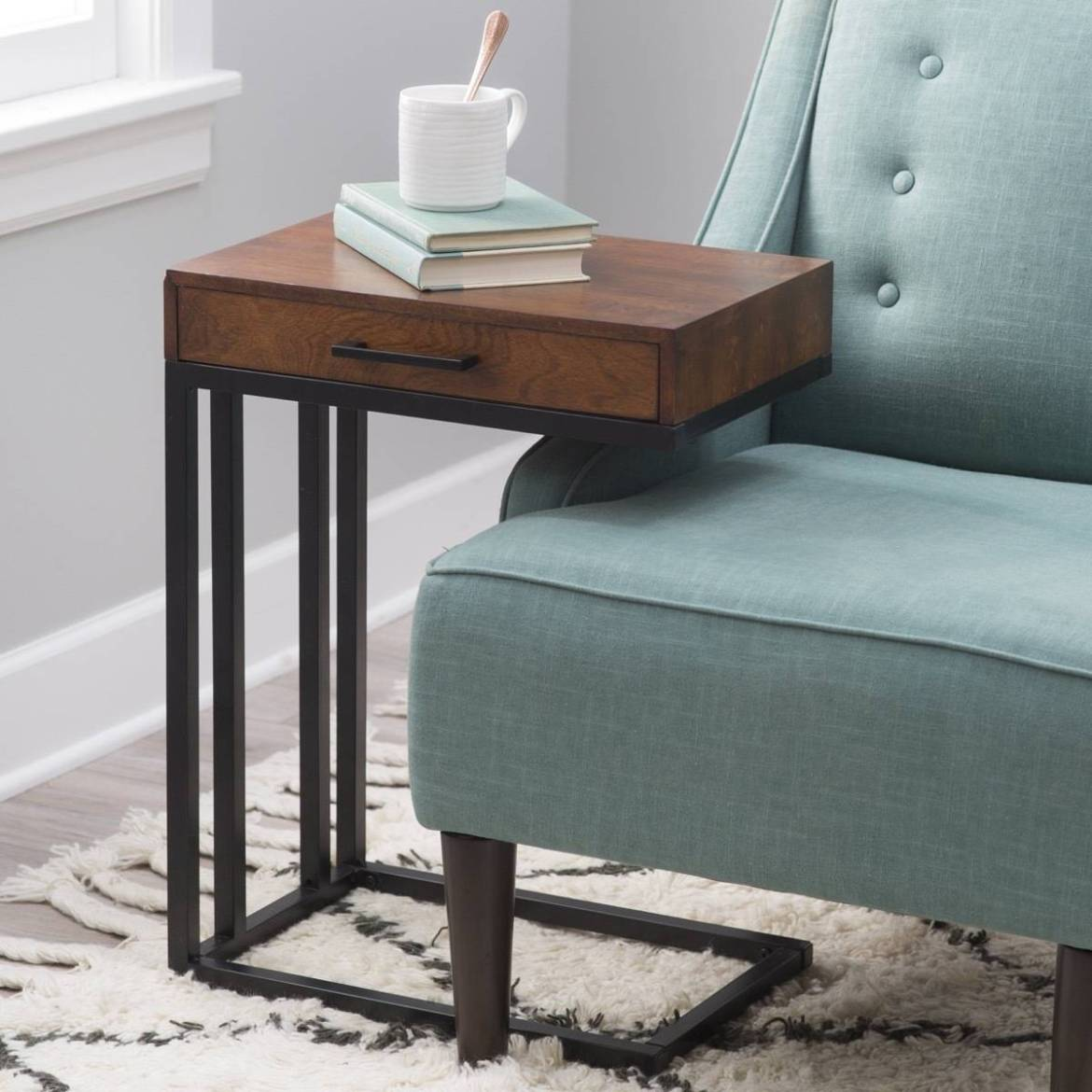 Drake c-table with drawer from Hayneedle