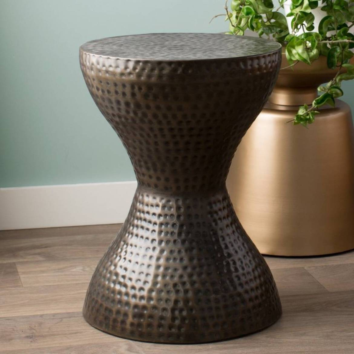 Textured end table from All Modern