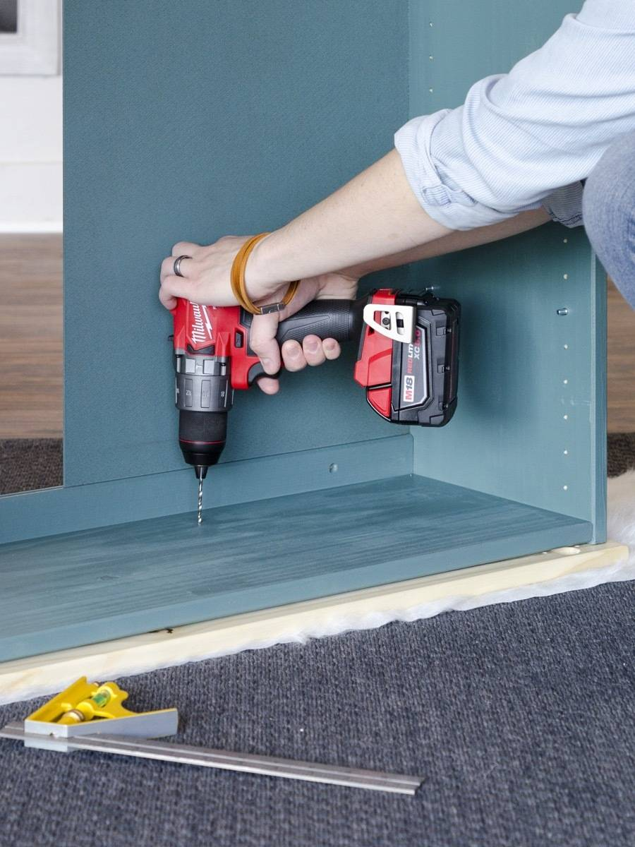 Attaching countertop to IKEA IVAR cabinet