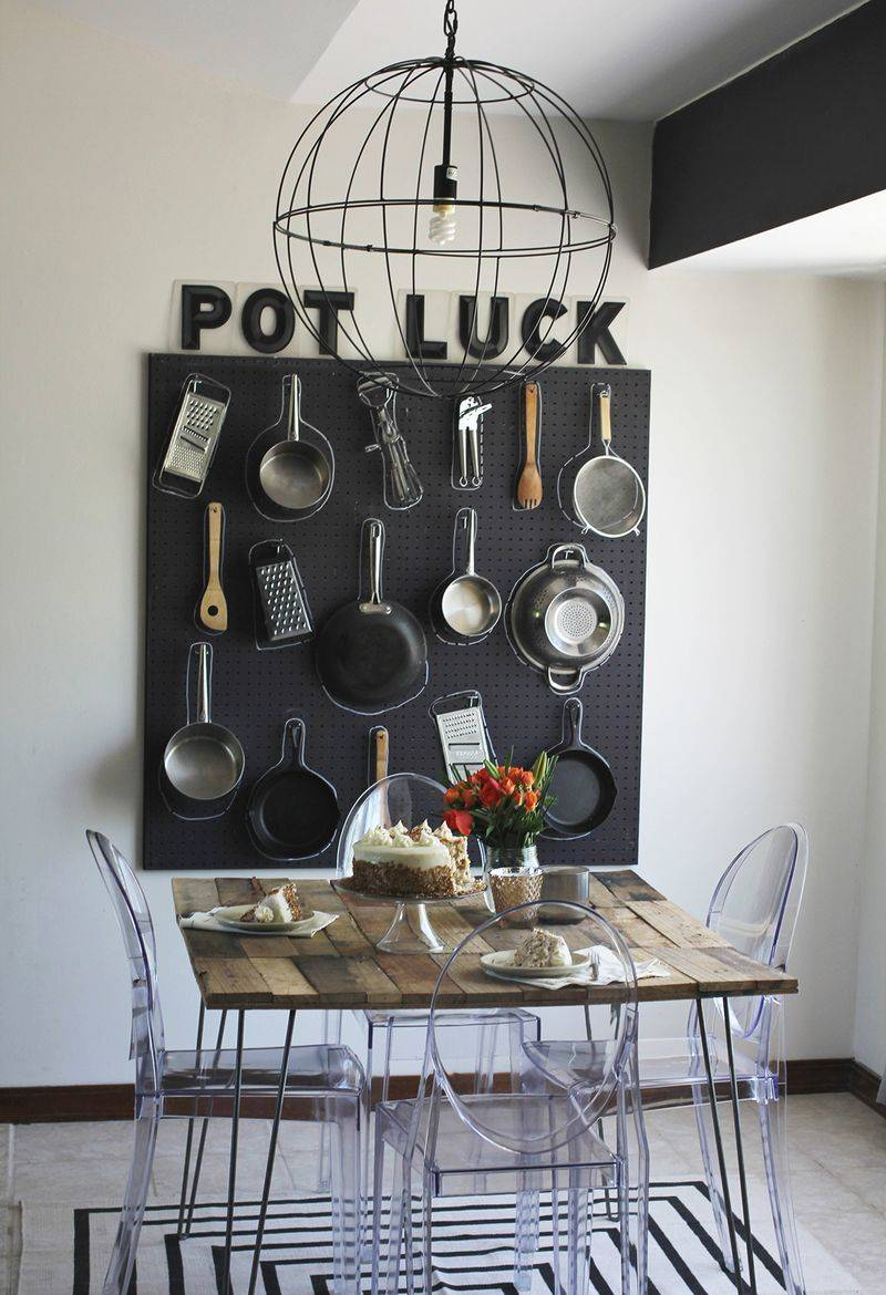 Pegboard cookware organization system