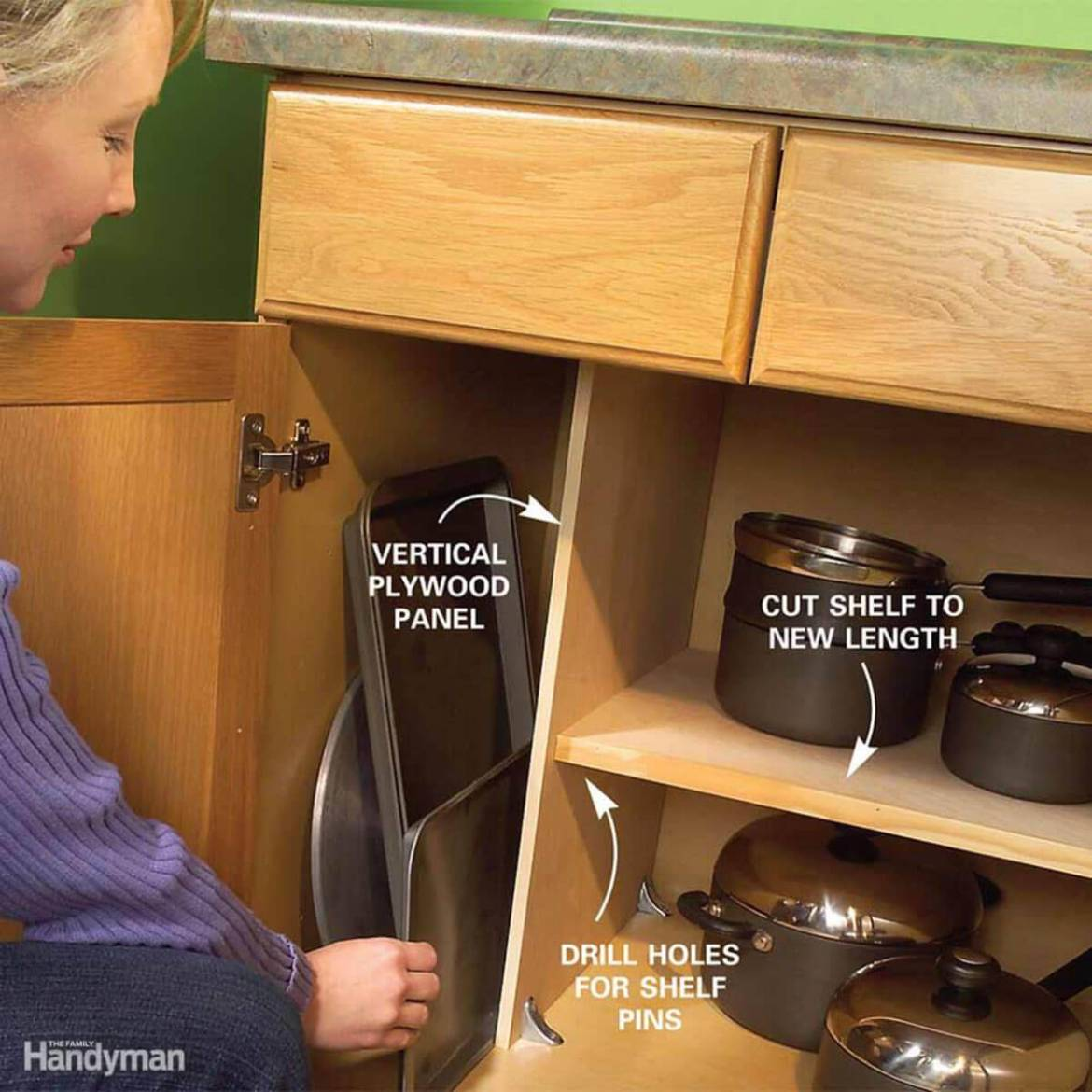 How to convert large cupboard for vertical storage