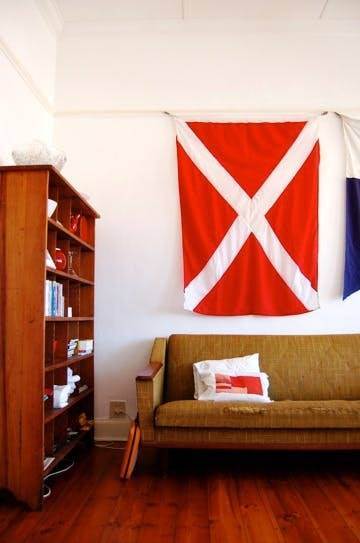 Nautical Flag in living room