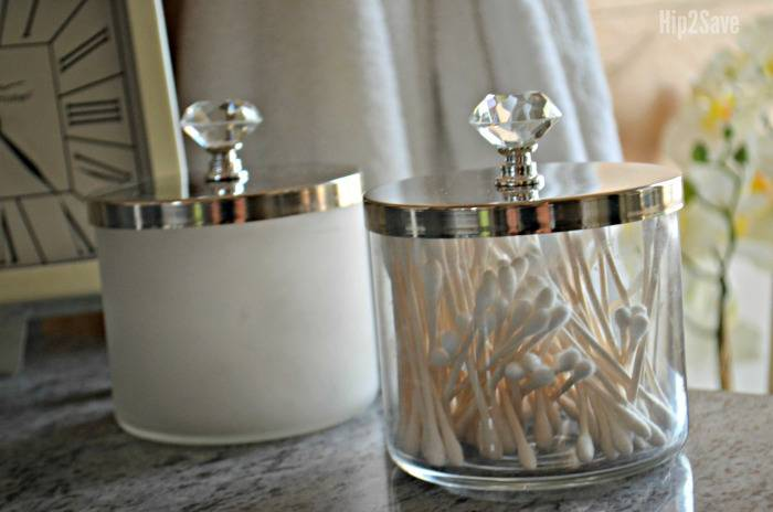 Apothecary jars from old candle containers