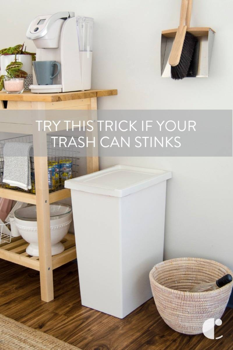 Try this trick if your trash can smells