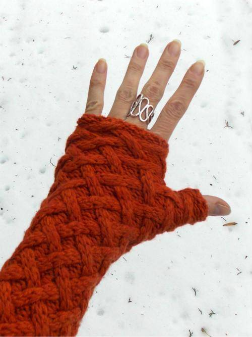 upcycled fingerless gloves