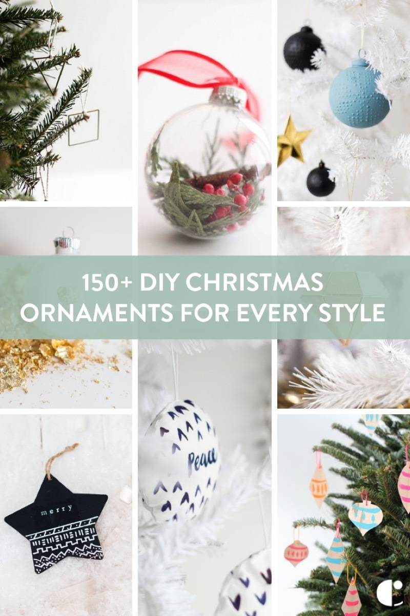 A mega roundup of ornaments you can make before Christmas