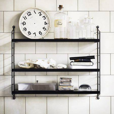 String shelves are a staple of Scandinavian style