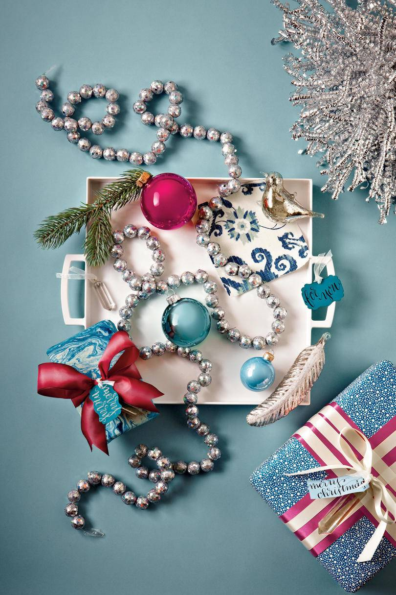 Blue and raspberry Christmas color palette