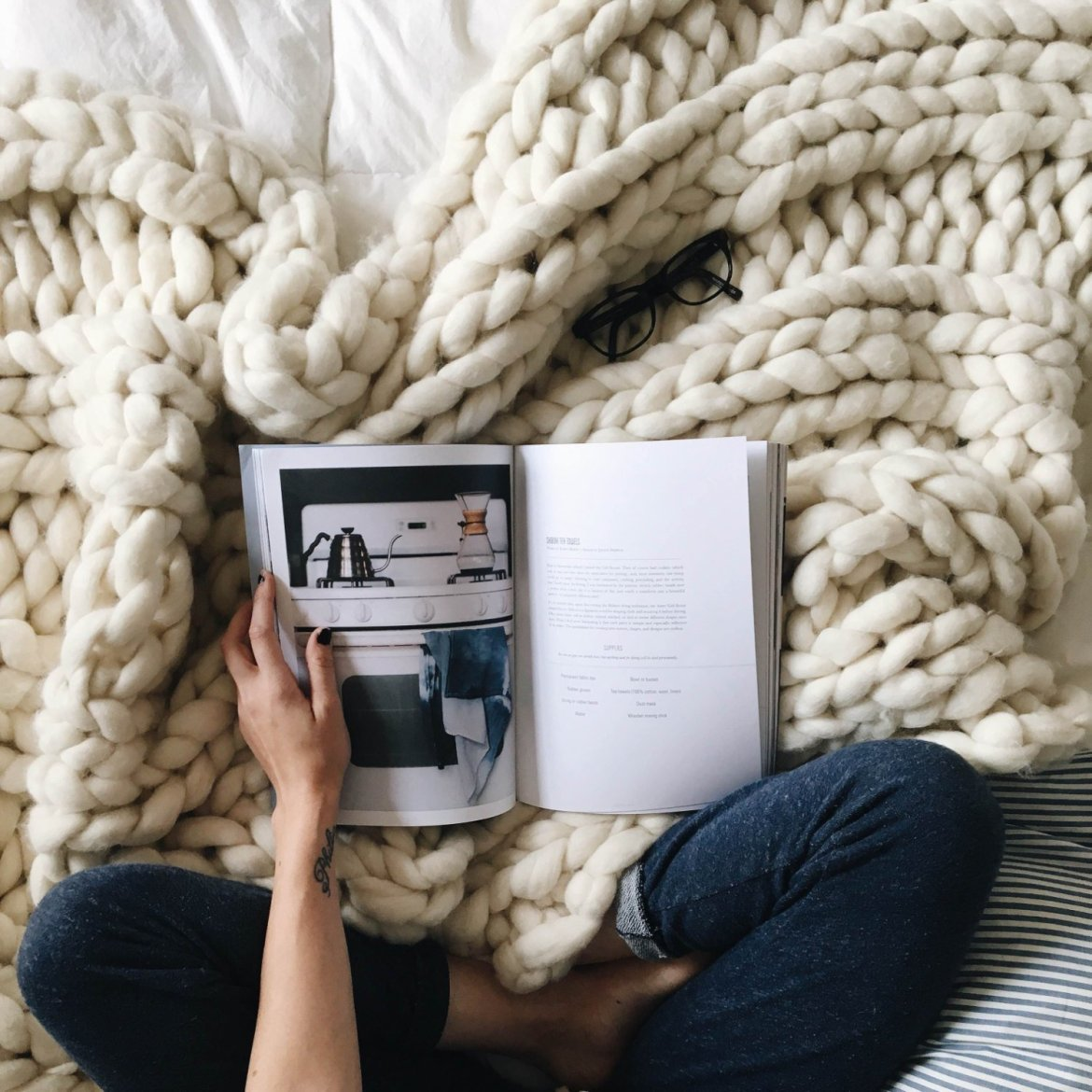 Chunky knit blanket to buy or DIY