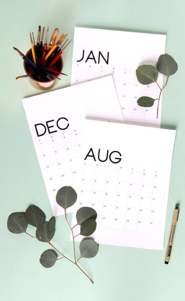 19 Gorgeous Free Printable Calendar ideas