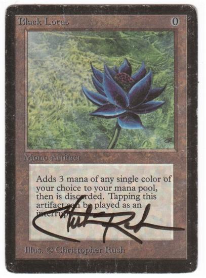 Black Gathering Lotus Card Magic