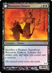 Magic The Gathering Promo Single Ravenous Demon
