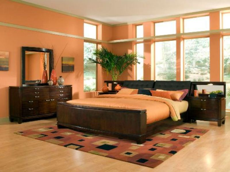 Colorful Wall In The Bedroom Ideas Orange Wall Bedroom