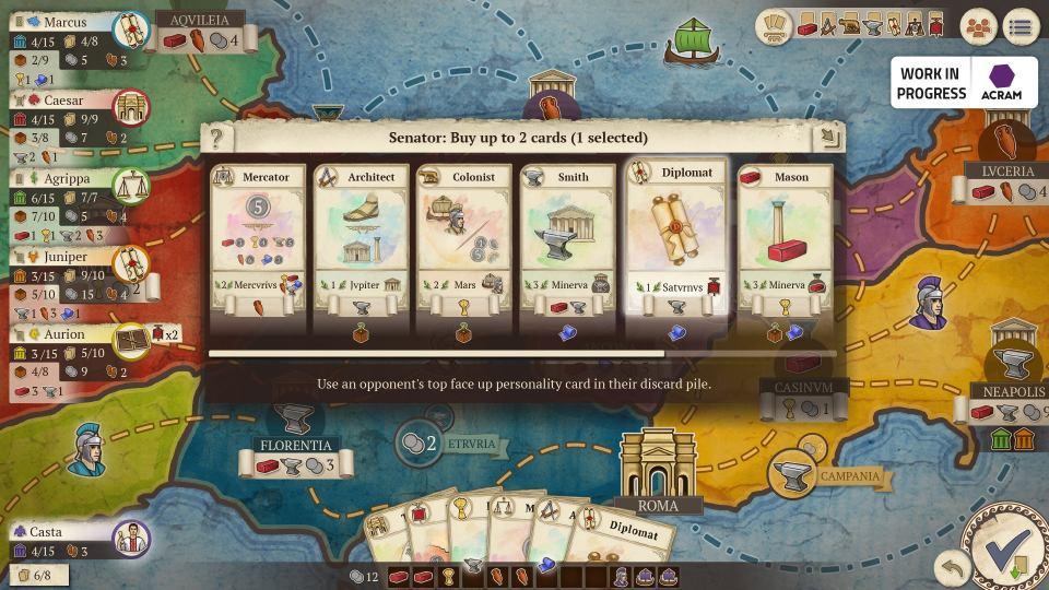 Cartes de capture d'écran Concordia: Digital Edition
