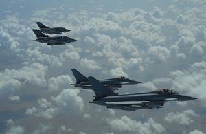 RAF Tornado and Typhoons.