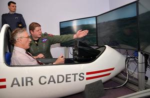 Minister for Reserves, Julian Brazier, visits RAF Kirknewton