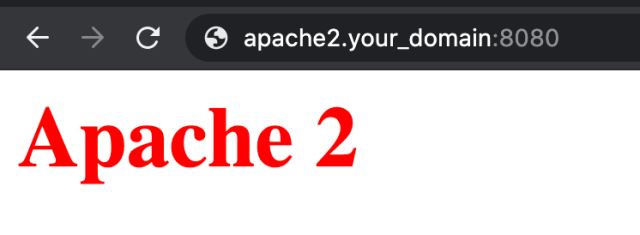 apache2 index page