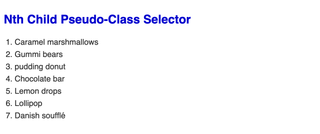 Large bold blue headline followed by an ordered list of seven items in black text.