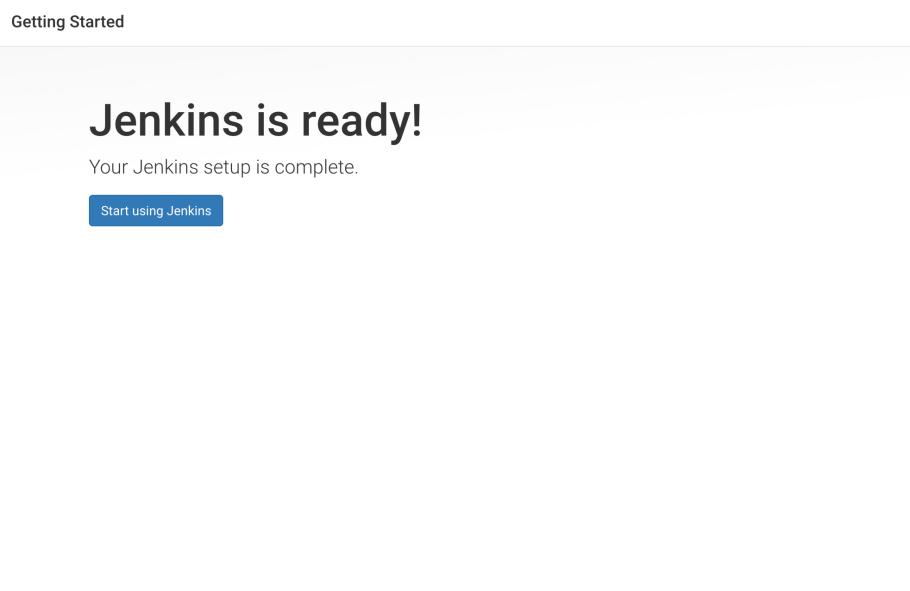 Jenkins is ready screen
