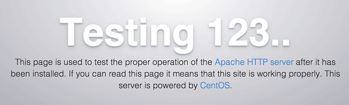 CentOS 7 Apache default