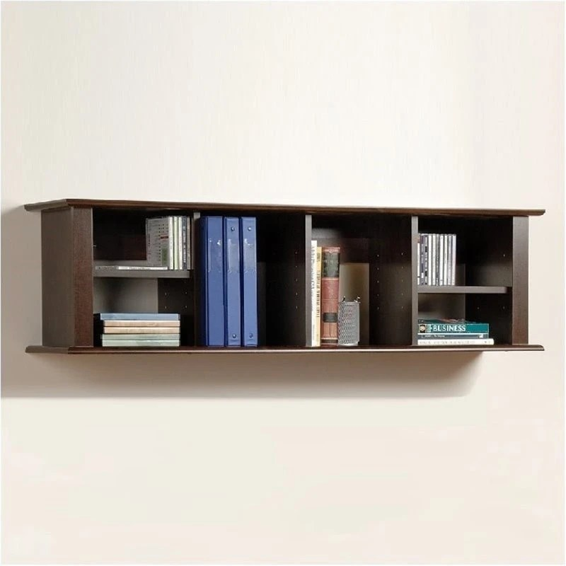 Bowery Hill Wall Hanging Hutch In Espresso Discount Bandit