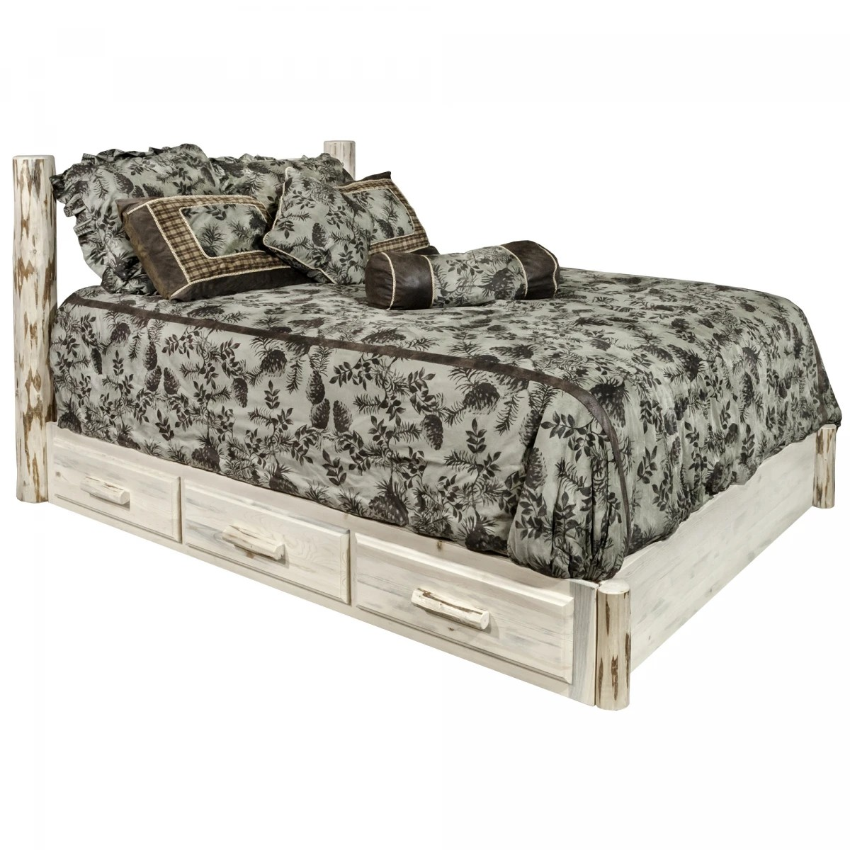 Montana Collection California King Platform Bed With