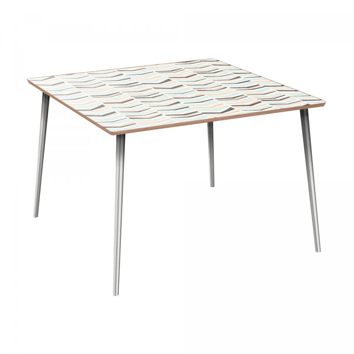 Nye Koncept Mason Chevron Sorbet Walnut Flare Dining Table