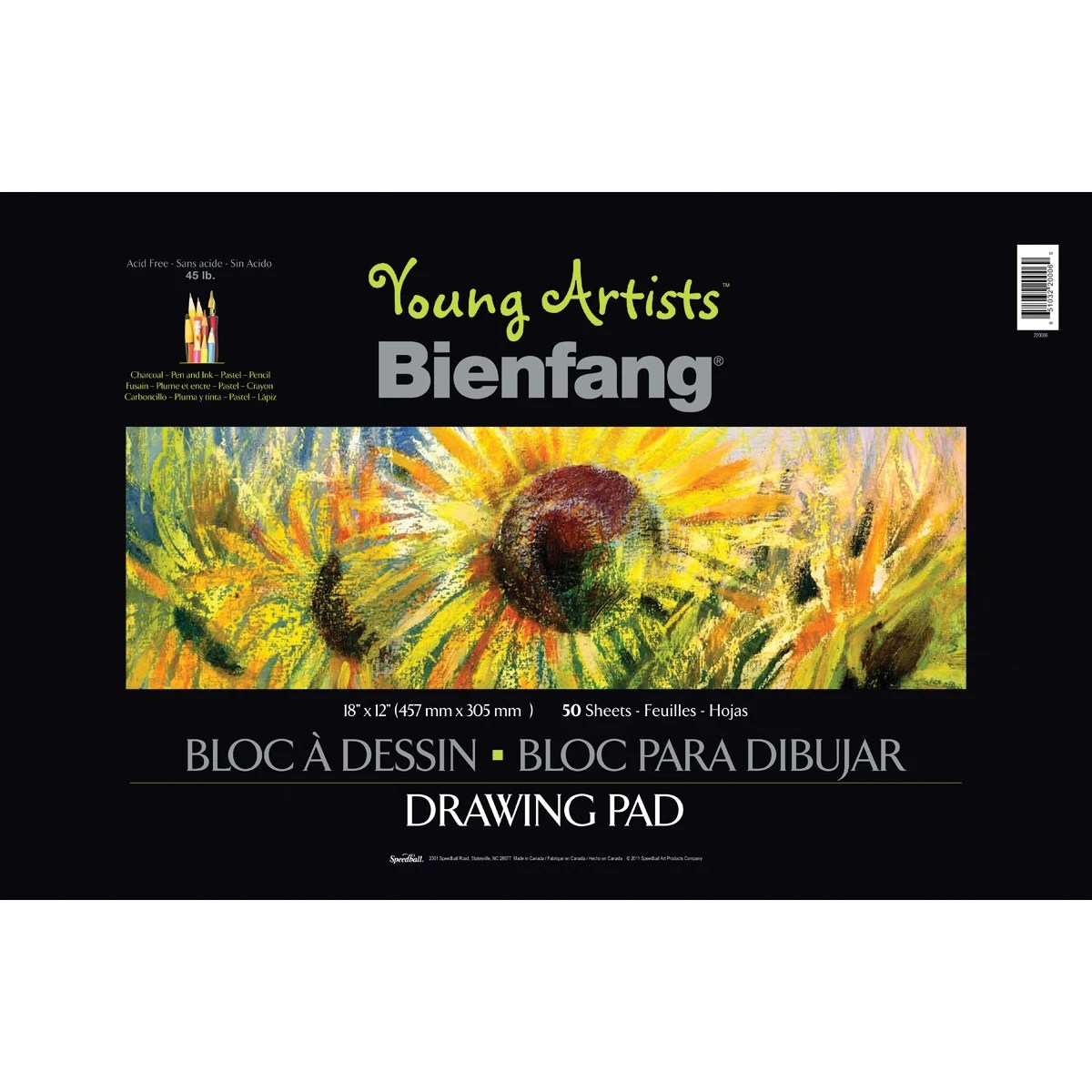 Speedball Art Products Young Artists Drawing Pad 18 X12 50 Sheets Contains Pack Of 1