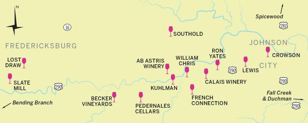 Fredericksburg TX Map