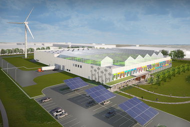 Gotham Greens 75,000-square-foot greenhouse atop Method's soap factory in Pullman could produce 40 jobs and up to a million pounds of produce per year.