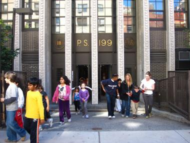 P.S. 199 on West 70th Street is one of three schools on the Upper West Side with waitlists for the incoming class of kindergartners.