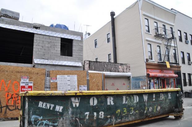 New construction is rampant on Bushwick's sidestreets.