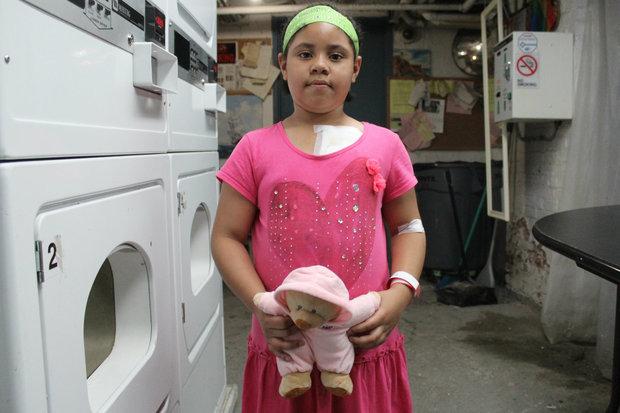Lia Vega after her hospital visit