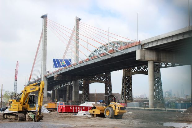 The Governor Andrew Cuomo unveiled the first stretch of the new Kosciuszko Bridge which iwll open to traffic Thursday night.