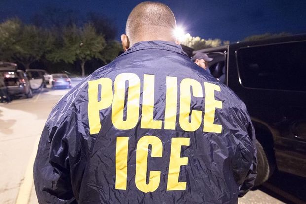 Flyers urge blacks to report undocumented immigrants to ICE.