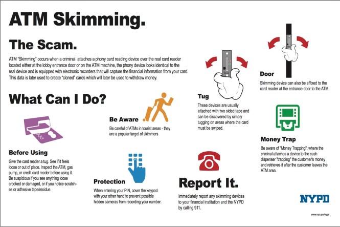 NYPD ATM Skimmer Tips
