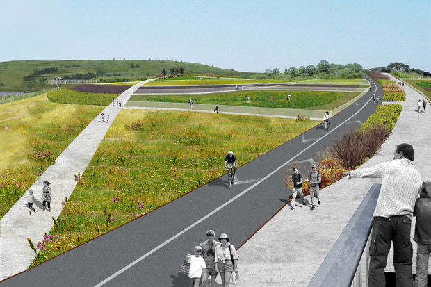 The city awarded the contract to start work on the 21-acre North Park inside Freshkills Park. The spot, when it opens in 2020, will be the first part of the park inside the former landfill's boundaries to be opened to the public year-round.