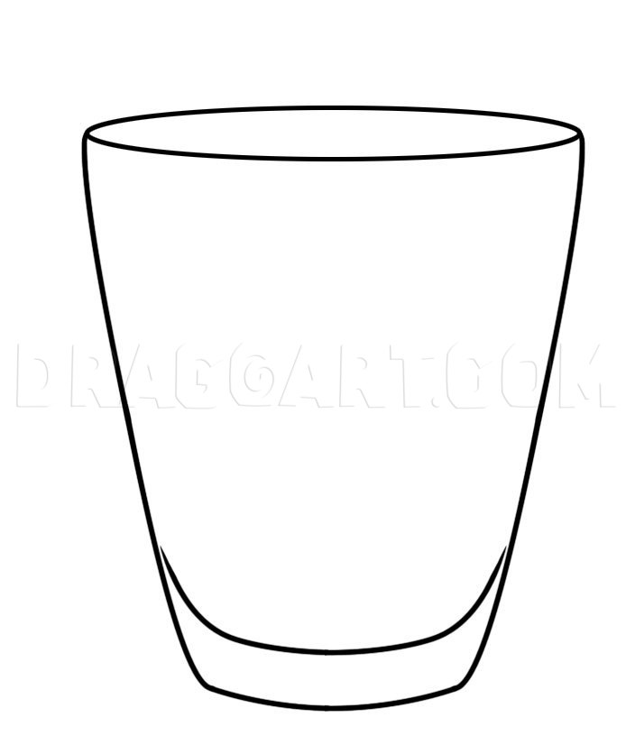 How To Draw A Glass Step By Step Drawing Guide By Dawn Dragoart Com