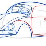 How To Draw A Vw Beetle Step By Step Drawing Guide By Dawn Dragoart Com
