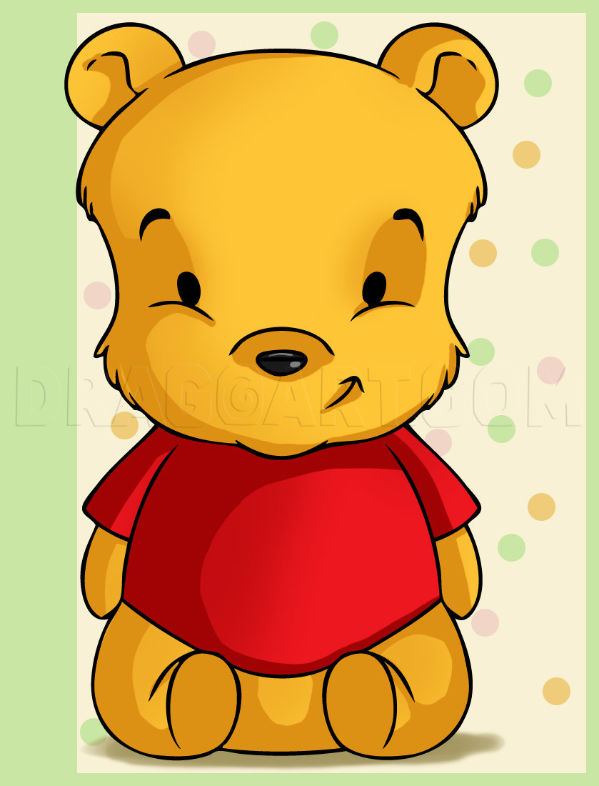 How To Draw Baby Pooh Step By Step Drawing Guide By Dawn Dragoart Com