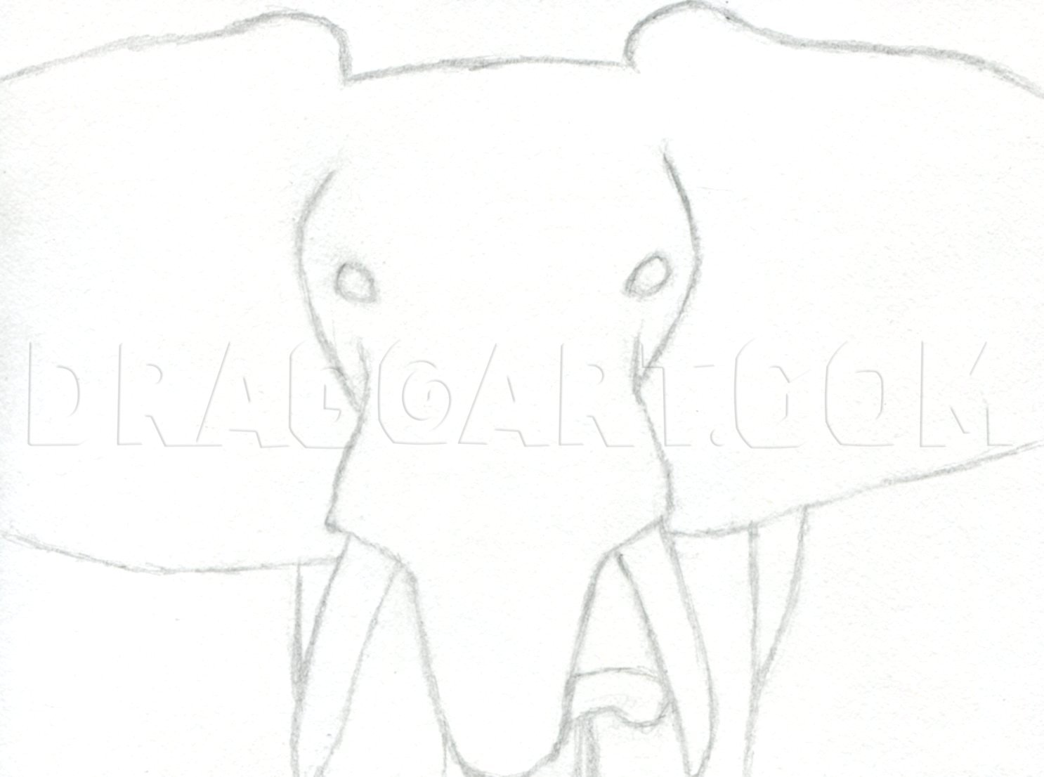 How To Draw An Elephant Head African Elephant Step By Step Drawing Guide By Finalprodigy Dragoart Com