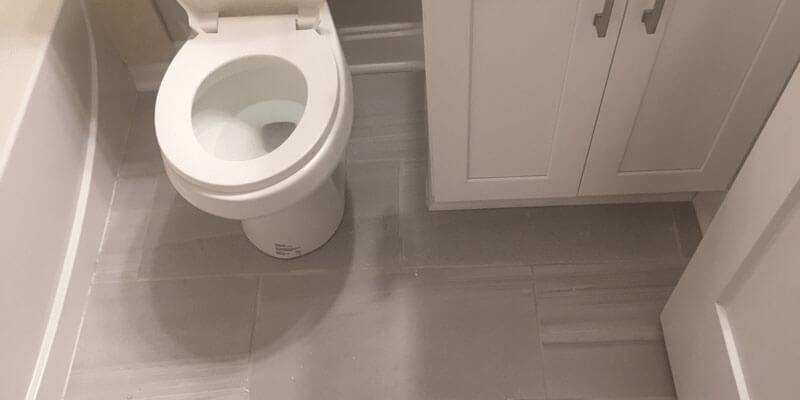install a tile floor in your bathroom