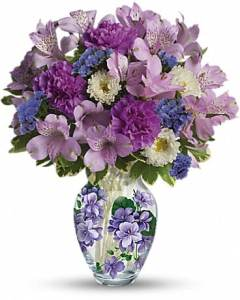 Teleflora s Sweet Violet Bouquet   by Bloomers Flowers Teleflora s Sweet Violet Bouquet Bouquet