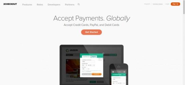 Processamento de pagamento nline - Aceite pagamentos online - 2Checkout
